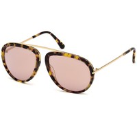 Tortoise and Gold Frame Sunglasses by Tom Ford
