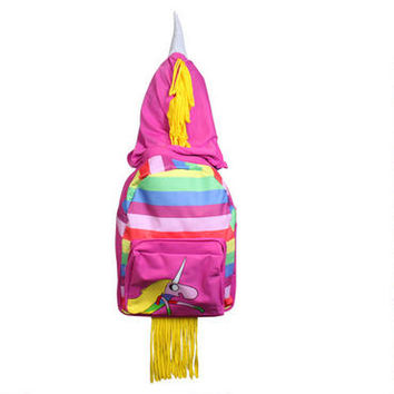 Adventure Time Lady Rainicorn Hooded Backpack |