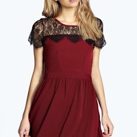 Marriet Eyelash Lace Skater Dress