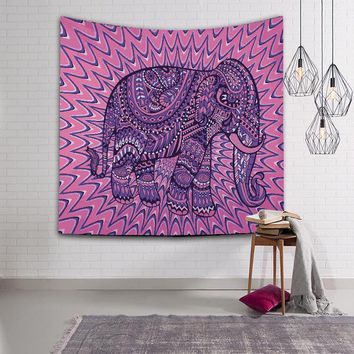 Indian Bohemian Mandala Elephant Tapestry Wall Hanging Sandy Beach Picnic Throw Rug Blanket Camping Tent Travel  Bedspread