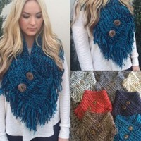Button Me Up Infinity Scarf