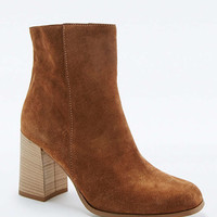 Tammy Tan Suede Wooden Heel Ankle Boots - Urban Outfitters