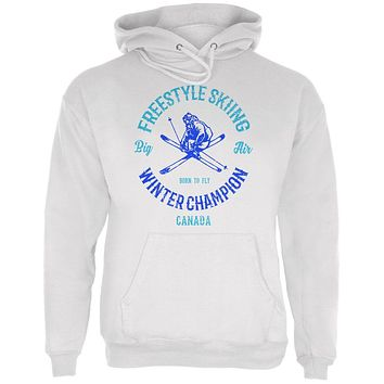 Winter Games Freestyle Skiing Champion Canada Mens Hoodie