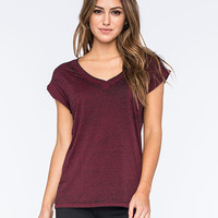 Fox Miss Clean Womens Pocket Tee Bordeaux  In Sizes
