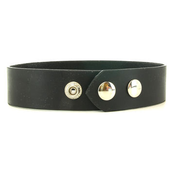 Classic Black Snap Collar in L
