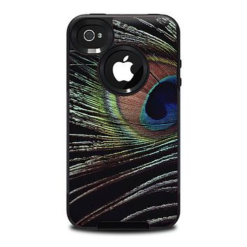 The Dark Peacock Spread Skin for the iPhone 4-4s OtterBox Commuter Case