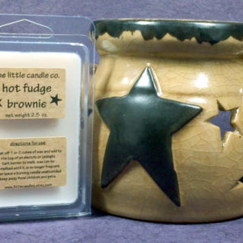Soy Wax Melt // Hot Fudge Brownie // Highly Scented Soy Wax Tart // Mother's Day Gift // Primitive Home Decor