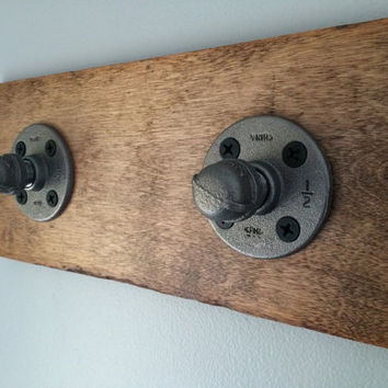 Industrial Coat Rack; Reclaimed Wood Coat Rack; Coat Hook