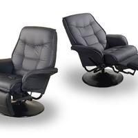 Two New Black Theater Seating / Gaming Recliner Chairs
