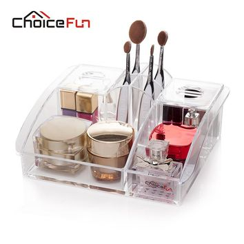 CHOICE FUN Makeup organizer storage box acrylic organizador maquillage cosmetic organizer cajas organizadoras drawers SF-1280
