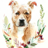 5x7 Custom Pet Portrait Illustration