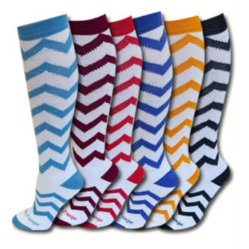 Chevron Zig Zag Socks Softball Socks - Soccer socks -CrossFit Socks- Adult & Kids Sizes