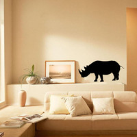 Rhino Animal Beast Wall Vinyl Decal Art Design Murals Interior Decor Sticker SV781