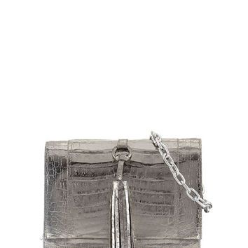 Nancy Gonzalez Small Tassel Crocodile Crossbody Bag
