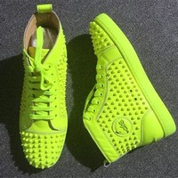 Cl Christian Louboutin Louis Spikes Style #1894 Sneakers Fashion Shoes - Best Online Sale