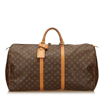 Louis Vuitton Keepall Bandouliere 60 Monogram Duffel Bag