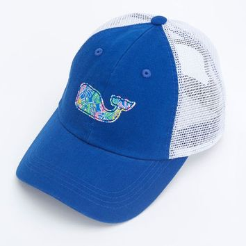 Tropical Leaves Whale Trucker Hat