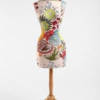 Floral Wood Base Dress Form