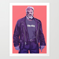 GAME OF THRONES 80/90s ERA CHARACTERS - Hodor Art Print by Mike Wrobel