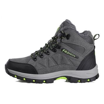 Men's Hiking shoes boots Winter outdoor Snow Boots for Women Warm Anti-slip Trekking Boots shoes Mountain climbing shoes size 45