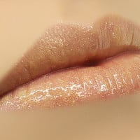 Temptress Gold Shimmer Sheer Lip Gloss for Attraction & by mojospa