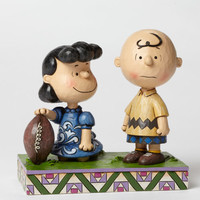 Enesco Jim Shore Peanuts Football Lucy and Charlie Brown NIB Item #4042376