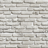 White Brick Pattern Removable Wallpaper