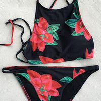 Cupshe Run the Good Floral Bikini Set