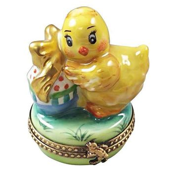 EASTER CHICK WITH EGG LIMOGES BOXES
