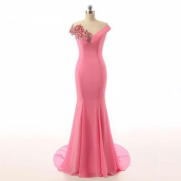 New Trumpet Mermaid Spring Dress Factory Made Long Prom Dresses Dress Prom Gown