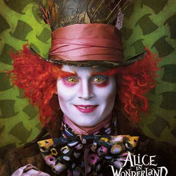 Alice in Wonderland Mad Hatter Johnny Depp Poster 24x36