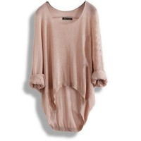 Loose round cute neck sweater