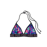 Logo Elastic Triangle Bikini Top - PINK - Victoria's Secret