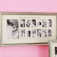 Silver Leaf First Year Frame | Pottery Barn Kids