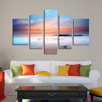 Large Wall Art Canvas Print Great Beach at Sunset