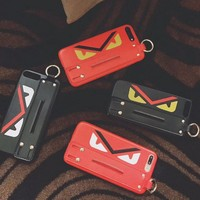 FENDI Popular logo iphone 7plus iphone6/6sp/7/8 hand case wrist strap