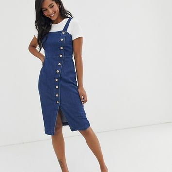 Vero Moda button through denim dress | ASOS