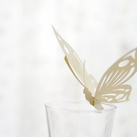 30 Place Cards Wine Glass Decoration Butterfly by MamaTita on Etsy