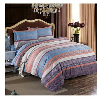 Bed Quilt Duvet Sheet Cover 4PC Set Upscale Cotton 100% 006