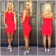 Veronica Cutout Mini Dress - RED