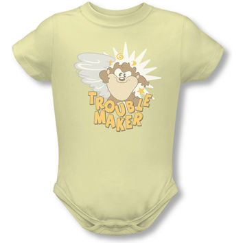 Warner Bros. Boys' Blt Trouble Maker Bodysuit Yellow Rockabilia