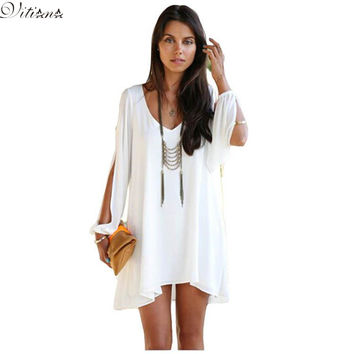 2016 New style Fashion Summer  Sexy Beach Clothing Party Women  Chiffon Vestidos Dress Nine color S-XXXL Maxi Size