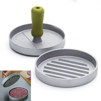 Easy to use Useful Metal Hamburger Patty Maker Cooking tools Burger Hamburger Press Meat Press Cookware Kitchen Dining Bar Tool