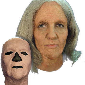 costume accessory: prosthetic - old woman mask