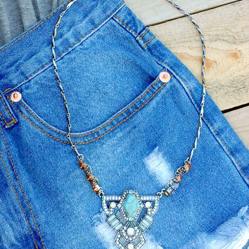 Vantage Turquoise Statement Necklace
