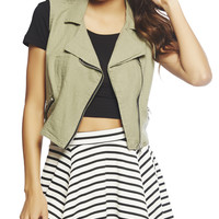 Linen Cropped Vest | Wet Seal