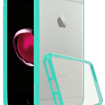 Apple iPhone 7 Plus Bastex Slim Fit, Flexible, Clear Transparent Back Cover, Fused TPU Teal Side Bumper Case