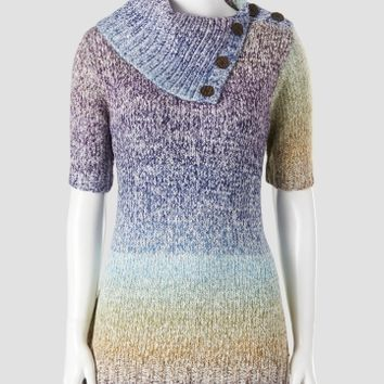 Lauren Michelle Rainbow Yarn Split-Neck Cowl Sweater - Women | Stein Mart