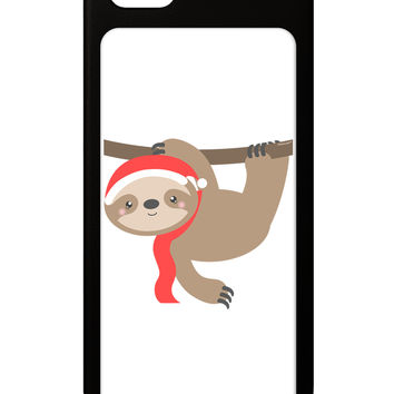 Cute Christmas Sloth with Santa Hat iPhone 5 / 5S Grip Case