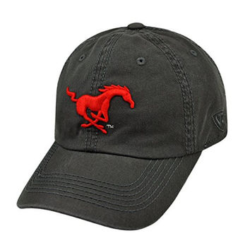 SMU Mustangs Official NCAA Adult One Size Adjustable Cotton Crew Hat Cap by Top Of The World 503196